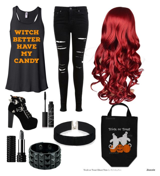 Happy Halloween Ghouls and Gals! by xxxladiidxxx on Polyvore featuring Miss Selfridge, Jeffrey Campbell, ASOS, Kat Von D and NARS Cosmetics