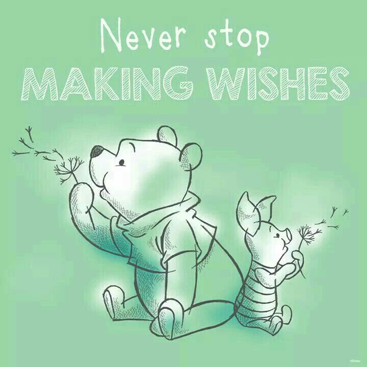 Never stop making wishes!