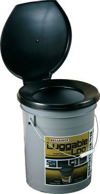 Wonder if I could get the kiddos to use this on a camping trip? $19.99 Cabela's: Luggable Loo Toilet Seat and Bucket