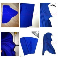 The best sewing pattern an tutorial of al-Amira hijab. Sew islamic clothes with HelikaStyle.
