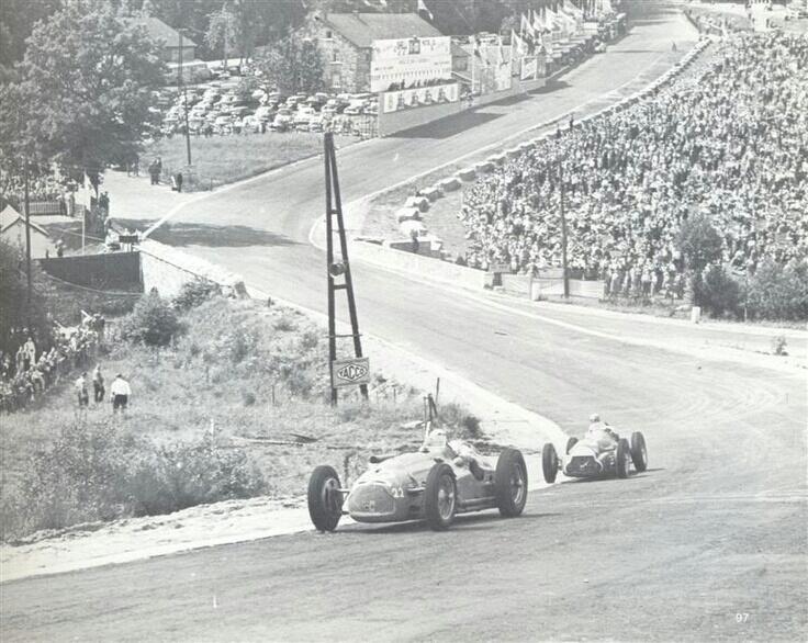 #10 Juan Manuel Fangio (Arg) - Alfa Romeo 158 (Alfa Romeo 8S) 1 (2) Alfa Corse / SA Alfa Romeo #22 Pierre Levegh (Fra) - Talbot Lago T26C (Talbot 6) 7 (10) Privateer