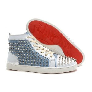 Mens Christian Louboutin Spike Flat Sneakers-Discount mens,Cheap Louboutins,Red Bottoms