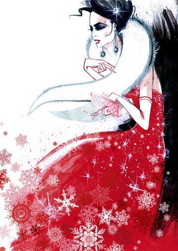 Christmas greeting illustrated by Richard Merritt..