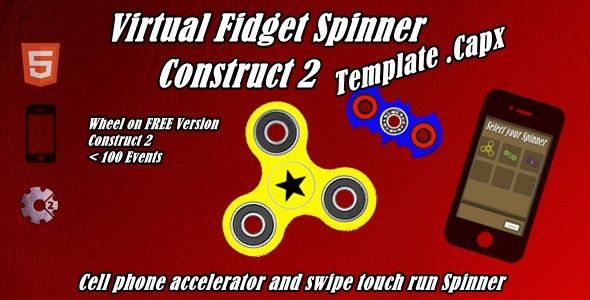 Virtual Fidget Spinner | Construct 2 - Template(.capx) - Price $13