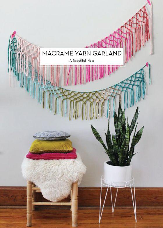 Macrame Yarn Garland DIY
