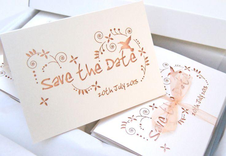 Hummingbird Wedding Invitations: Hummingbird Save The Dates