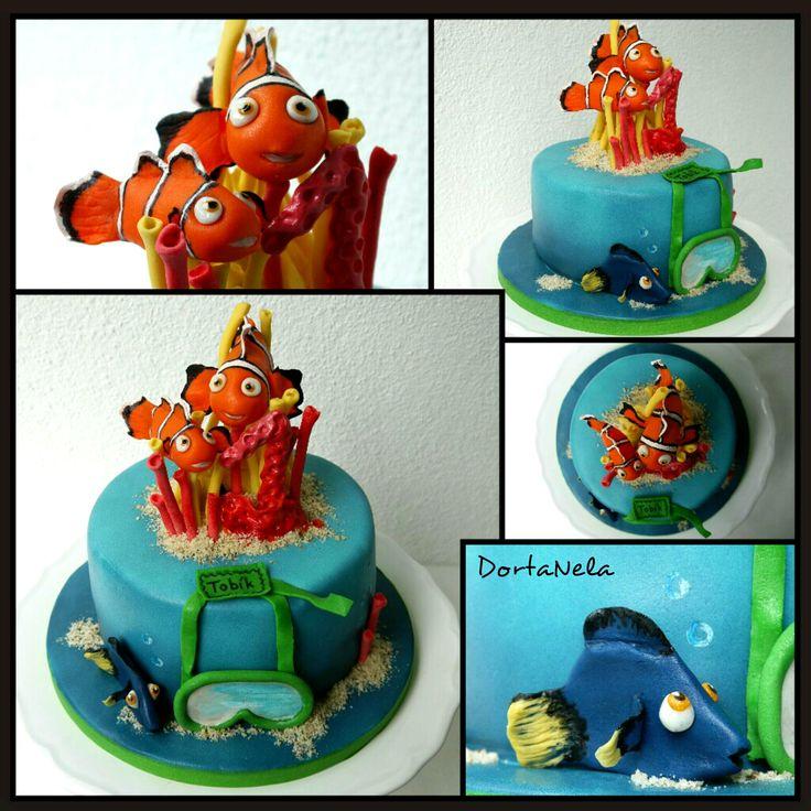 """FINDING NEMO AND DORY - CAKE (Dort """"Hledá se Nemo"""")"""
