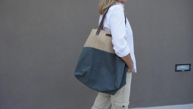 """""""DAWSON"""" canvas and burlap bag Sail&Pepper bags"""