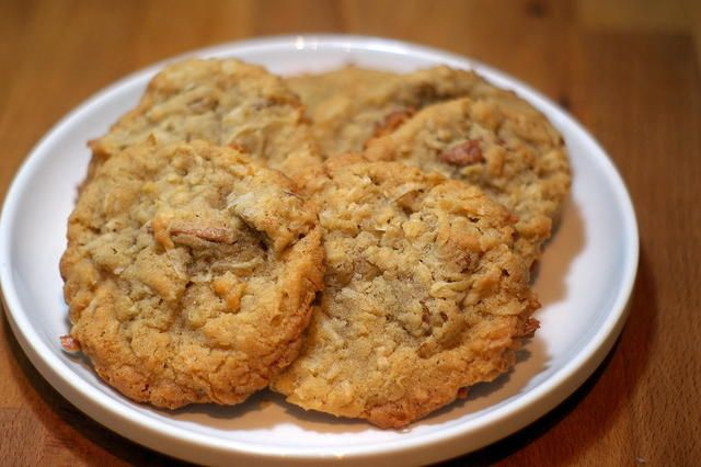 Coconut Pecan Cookies! | This is the one!  Just like the cookies from HT - make sure to stir in the pecans with a spoon to keep them from breaking up too much. - bec