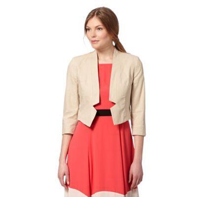 The Collection Natural linen blend bolero jacket- at Debenhams.com