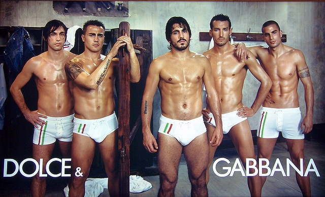 2006 FIFA World Champions - The Italian National Soccer Team - Underwear Advertisement