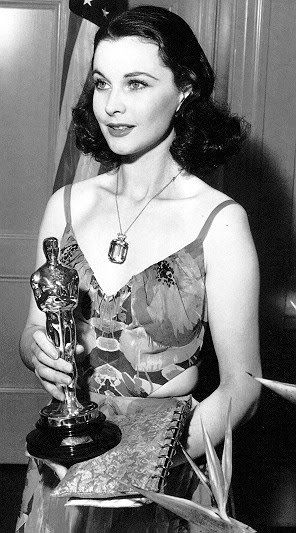 """Vivien Leigh, Best Actress at the Academy Awards for """"Gone with the Wind,"""" 1940."""