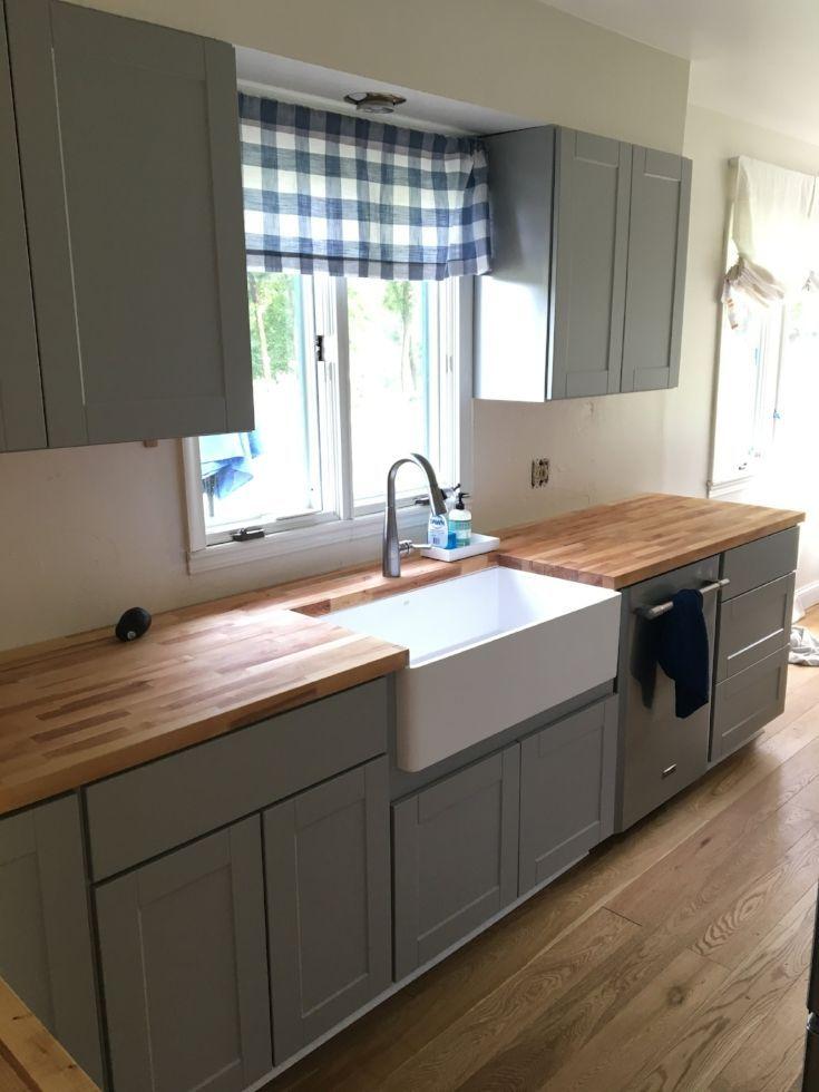 Butcher Block Countertops Small Kitchen Renovations Kitchen Remodel Small Diy Kitchen Renovation
