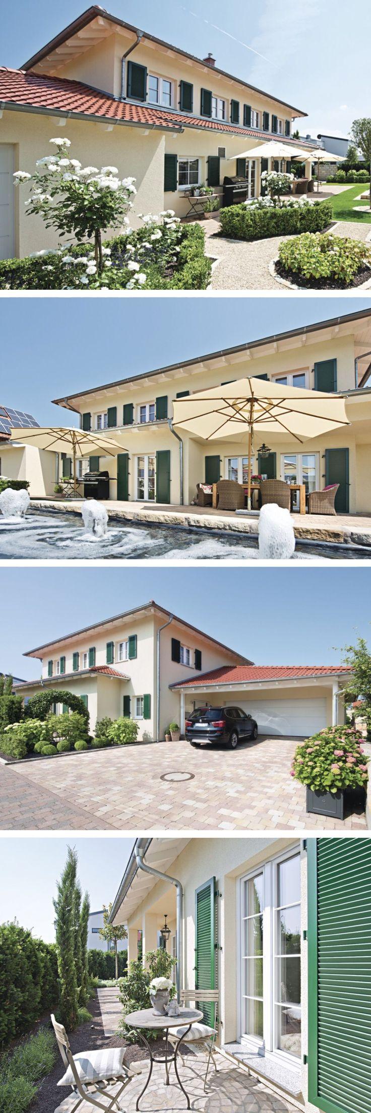 Einfamilienhaus im Landhausstil mit Garage & Walmdach Architektur – Haus bauen F…