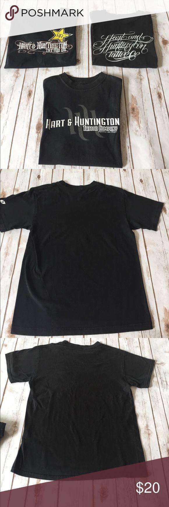 HART & HUNTINGTON TATTOO T-SHIRT BUNDLE Hart & Huntington Tattoo Las Vegas, 3 black t-shirts in very good condition. No holes or stains. Hart & Huntington Shirts Tees - Short Sleeve