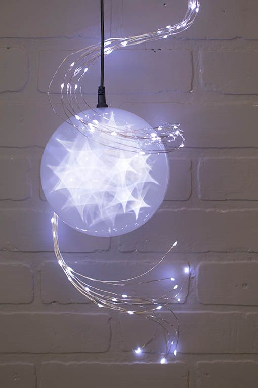 star design lighting. our lighted sphere projects a holographic star design to create fairytale dream with string lights lighting h