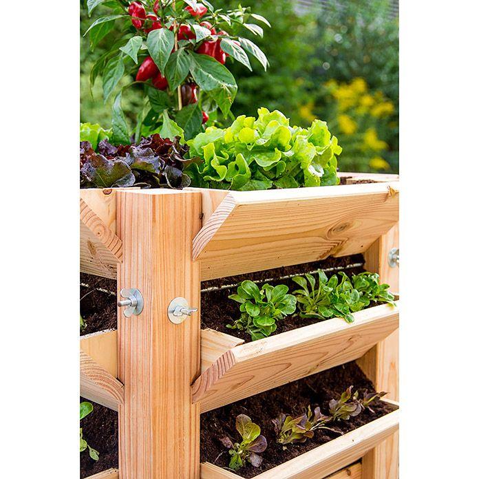 Cultivita Hochbeet Lh 65 X 65 X 117 Cm Douglasie Hochbeet Hochbeet Holz Bauhaus