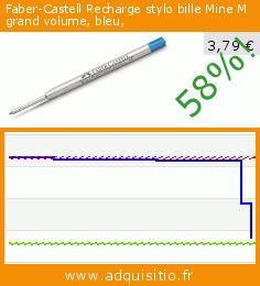 Faber-Castell Recharge stylo bille Mine M grand volume, bleu, (Fournitures de bureau). Réduction de 58%! Prix actuel 3,79 €, l'ancien prix était de 9,10 €. https://www.adquisitio.fr/faber-castell/recharge-stylo-bille-mine