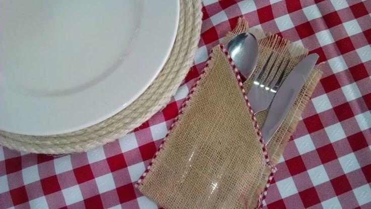 Manteleria para boda picnic