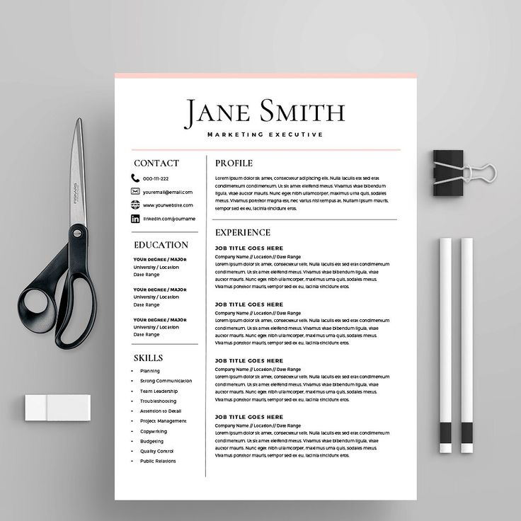 Resume Template/CV + Cover Letter by Kingdom Of Design on @creativemarket