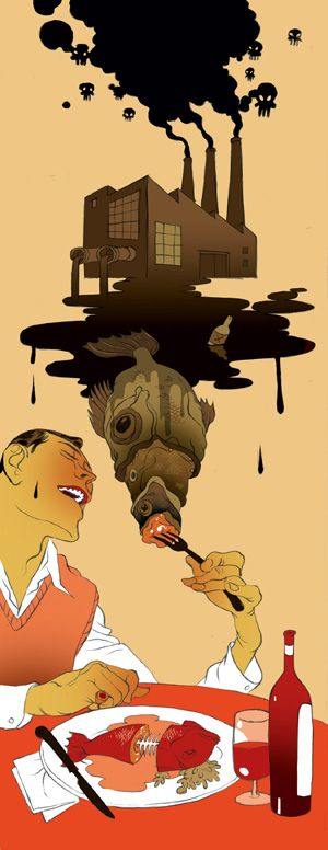 Are you eating toxins?  By Tomer Hanuka in Spring 2007.
