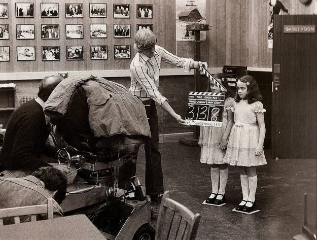 "The twin girls on the set of ""The Shining"" 