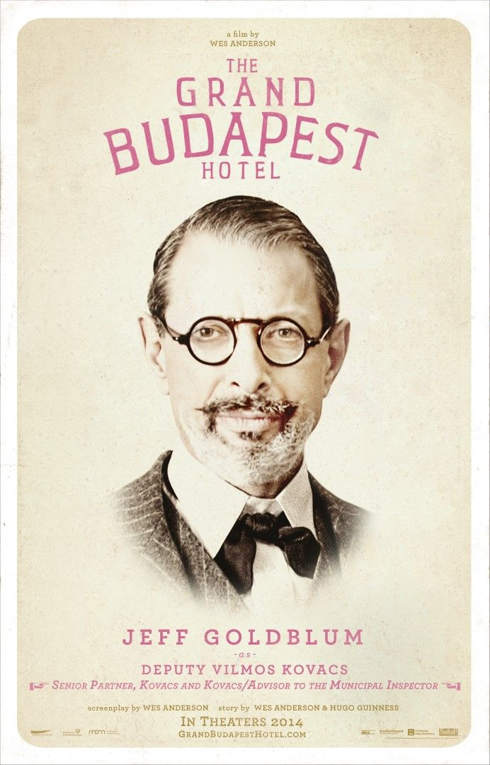 best grand budapest hotel images film posters  jeff goldblum movies these exclusive grand budapest hotel character posters come