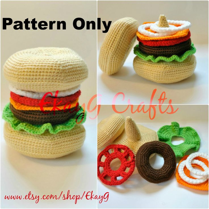 Popular items for crochet toy food on Etsy