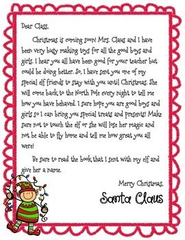 Elf On The Shelf Boy And Girl Introduction Letter FREE