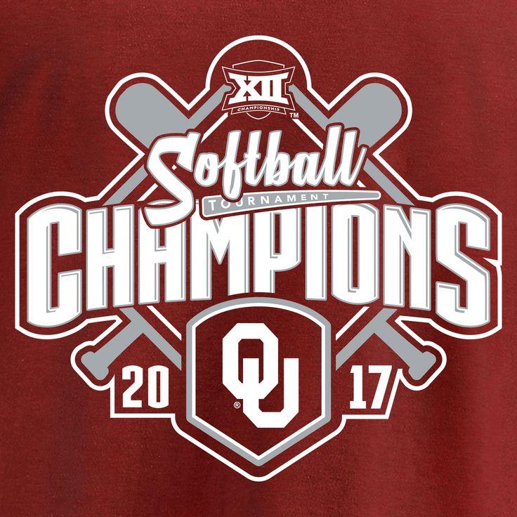 Men's Fanatics Branded Cardinal Oklahoma Sooners 2017 Big 12 Softball Tournament Champions T-Shirt