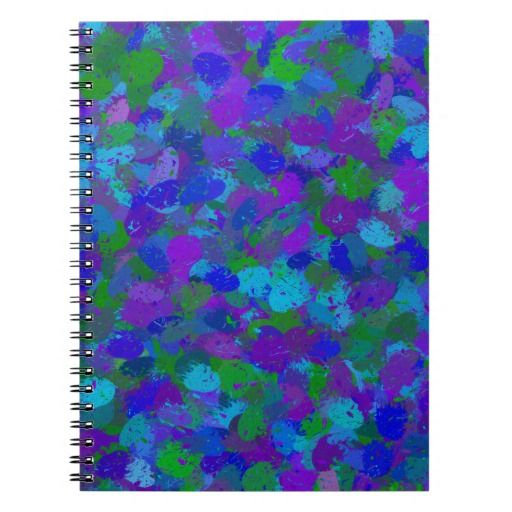 Personalize this beautiful Peacock Color Splatters 4755 Note Book with text or add a photo  #wedding #school