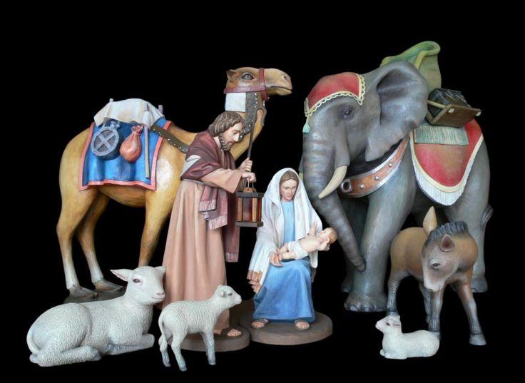 Bożonarodzeniowa #szopka klasyczne #figury drewniane