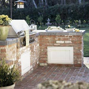 Outdoor kitchen design ideas outdoor buffet slate and for Simple outdoor kitchen designs