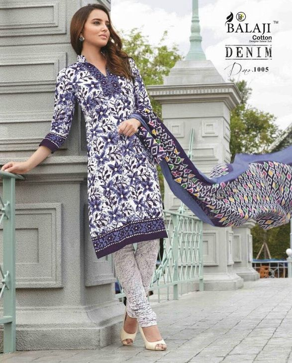 Balaji Denim Printed cotton dress material ( 14 pc Catalog)