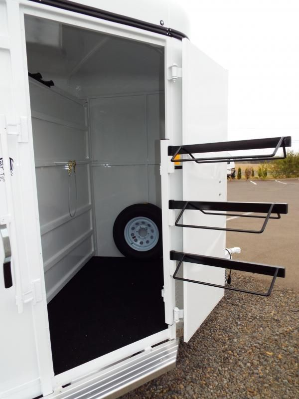 2016 Fabform Vision 3 Horse Trailer w/ Swing out Saddle Rack & Swinging Tack Room Wall | Double J Trailers, Inc. - Horse Trailers in Woodland Washington, TrailsWest Trailers, Silverlite Horse Trailers, Utility Trailers near Vancouver WA, Dump Trailer Portland Oregon, Trailer Sales Southwest Washington, Lakota Stock Trailer