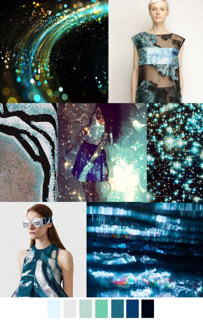 COSMIC WAVE - a great blue - turquoise-green-grey collection | PatternCurator