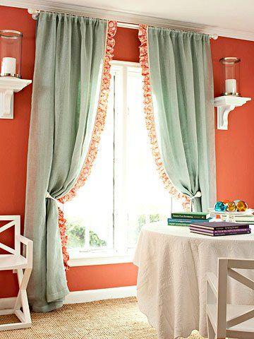 DIY:いろいろなスワッグカーテンの作り方と飾り方   Interior Design ... 素敵なオリジナルカーテンの作り方 いろいろ 〔カーテンをドレスアップする方法〕 woodytree