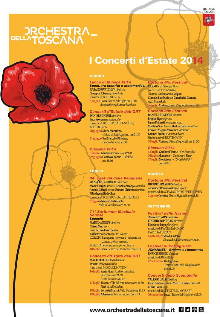 ORT | I Concerti d'Estate 2014 | grafica Mattia Vegni