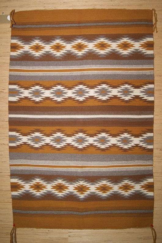 Banded Chinle Navajo Rug Circa 1960