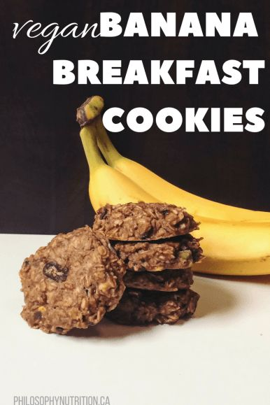 Banana Breakfast Cookies (vegan)