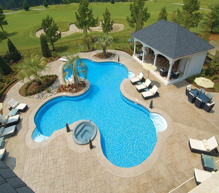 this swimming pool is a computer generated design from latham pool products this liners