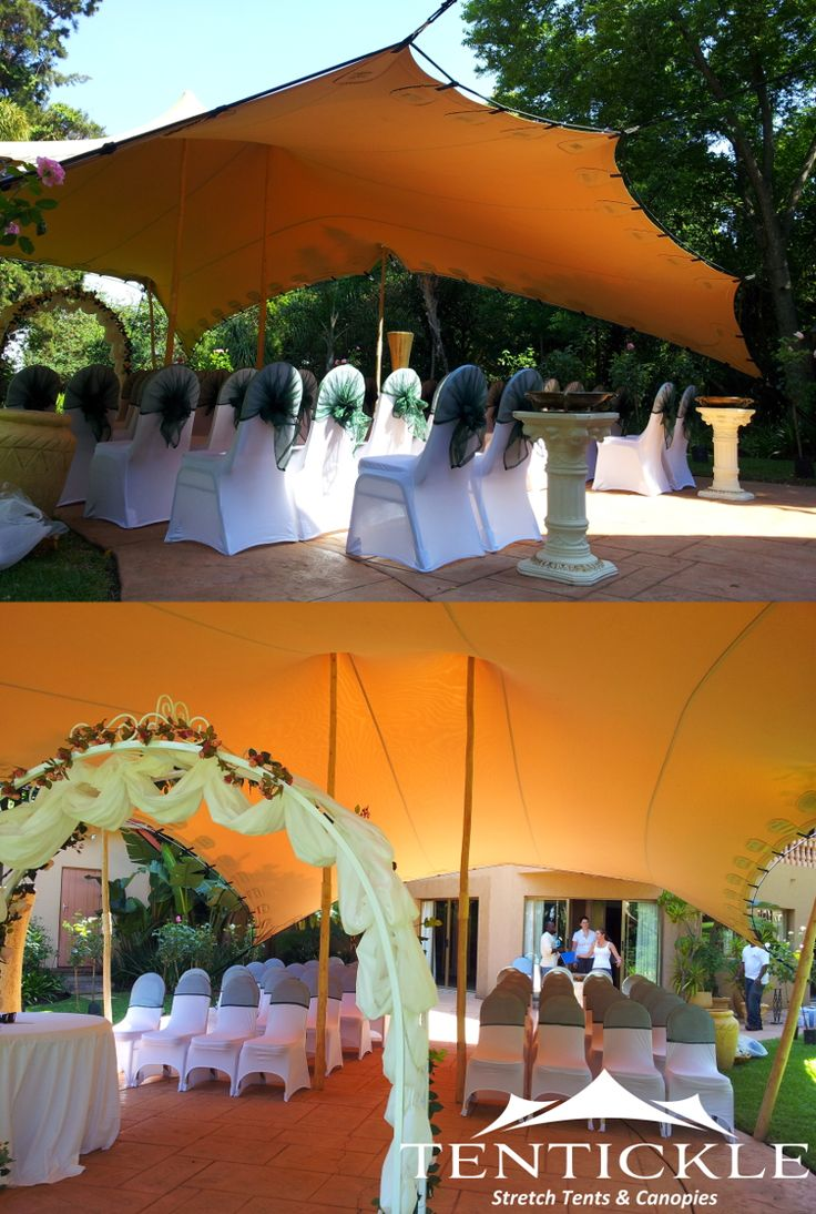 Small wedding ceremony tent Size 10m x 7.5m Colour Beige