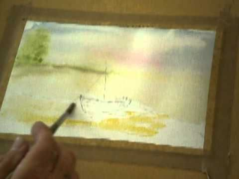 Misty watercolor lesson by Brian Collins