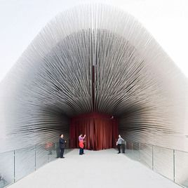 Thomas Heatherwick's Seed Catherdral building as part of the British pavilion at the Shanghai Expo