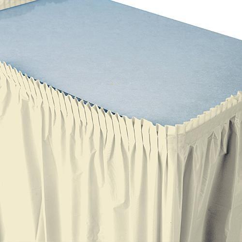 Ivory Plastic Table Skirt