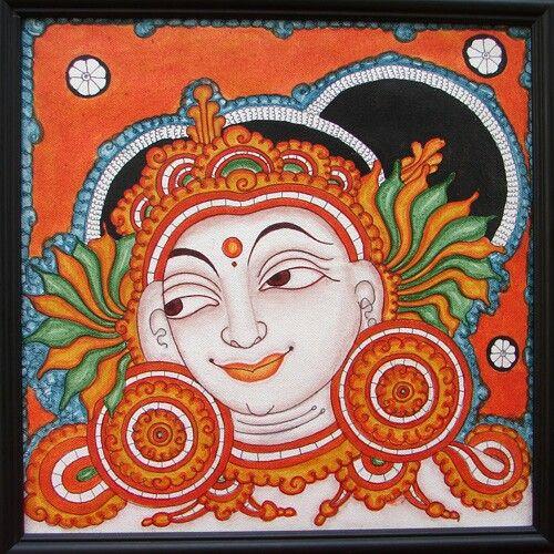 936 best kerala mural art images on pinterest mural art for Asha mural painting