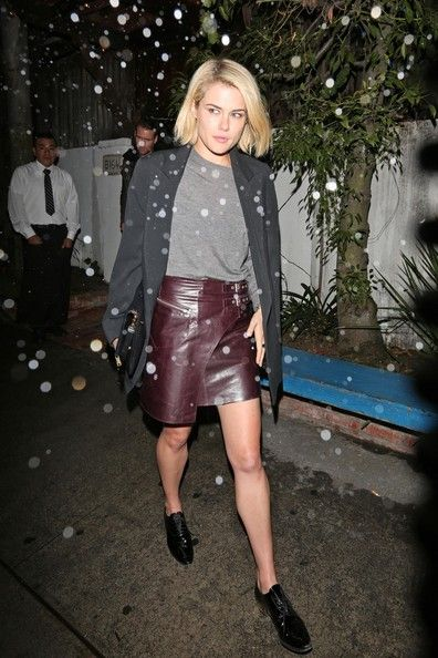 """Australian """"Transformers"""" actress and model Rachael Taylor leaves the Little Door restaurant in Los Angeles after having dinner with boyfriend"""
