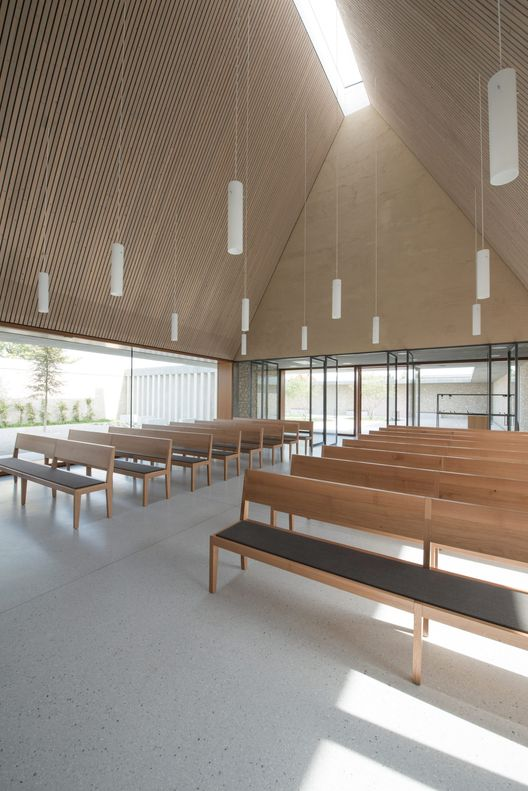 Modern Funeral Home Design welcoming and inviting modern funeral home interior designjpg Gallery Of Ingelheim Funeral Chapel Bayer Strobel Architekten 2