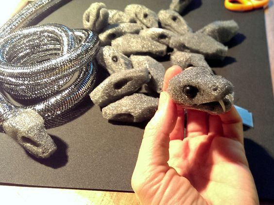 making foam medusa snakes - Google Search