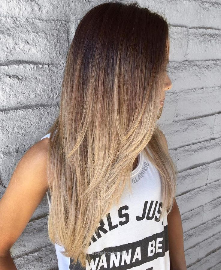 Adorable **** this cut and cascading ombré ***** #goals Long Layered Brown To Blonde Ombre The post **** this cut and cascading ombré ***** #goals Long Layered Brown To B ..